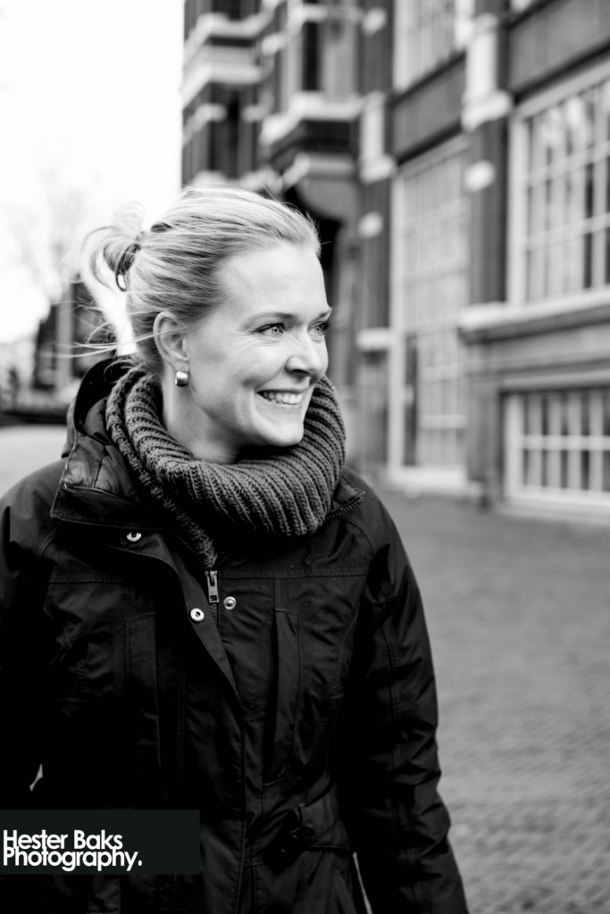 Black and white portrait of Femke Blokhuis made in Amsterdam