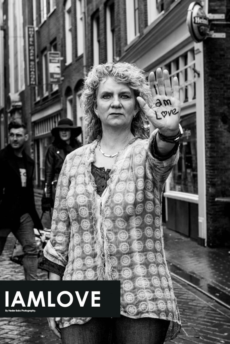 Portrait of Lydia Zwarenkant for I AM LOVE. www.facebook.com/iamlove2015 I AM LOVE is an initiative of Hester Baks Photography
