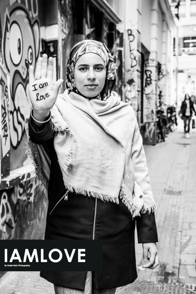 Portrait of Sanae el Madani for I AM LOVE www.facebook.com/iamlove2015 by Hester Baks Photography. I AM LOVE is a project about loving yourself so you can love others.