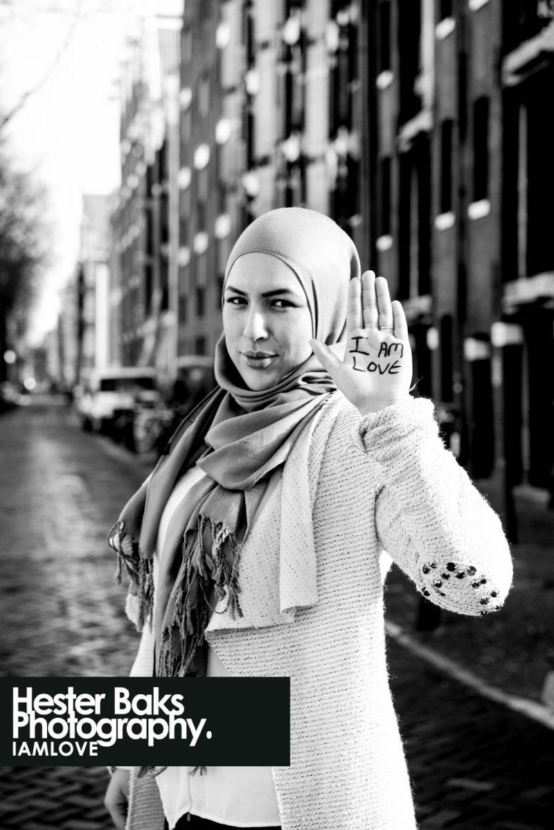 Portrait of Samira el Madani for I Am LOVE in Amsterdam